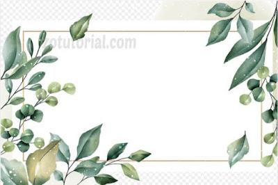 Frame Undangan Pernikahan Karangan Bunga PNG zotutorial.com