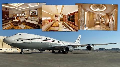 World's Most Lavish Qatari Boeing 747-8 Private Jet On Sale (Features, Aircraft Tour)