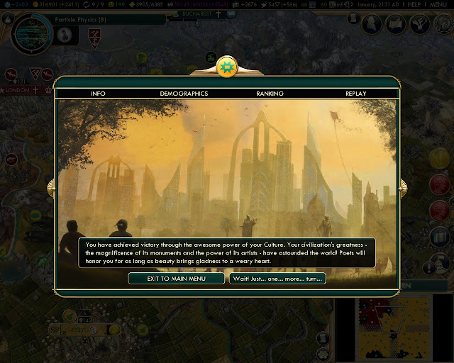 Cultural Victory | Civilization 5 screenshot
