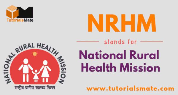 NRHM Full Form