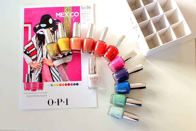 "Swatches and review of  the ""Mexico City"" OPI nail polish collection  for Spring-Summer 2020"
