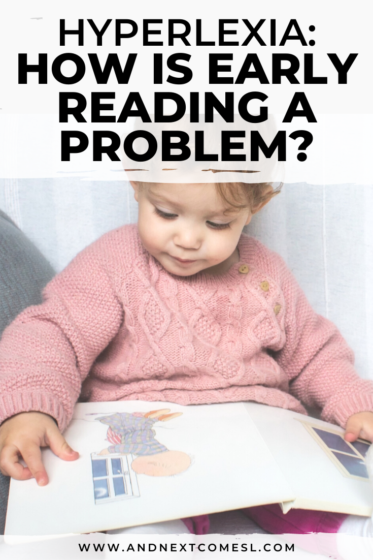 A closer look at the definition of hyperlexia and how it differs from early reading, in attempt to answer the question how is early reading a problem?