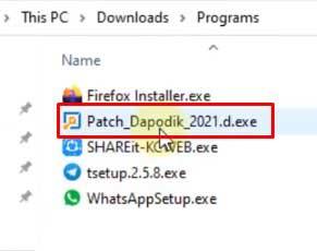 Cara instal patch dapodik 2021.d
