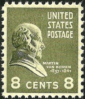Martin Van Buren 8 cent stamp