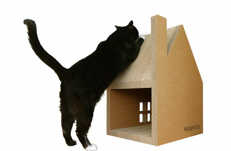 Casa de cartón para gatos Krabhuis