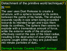 naruto castle defense 6.0 Detachment of the Primitive World Technique detail