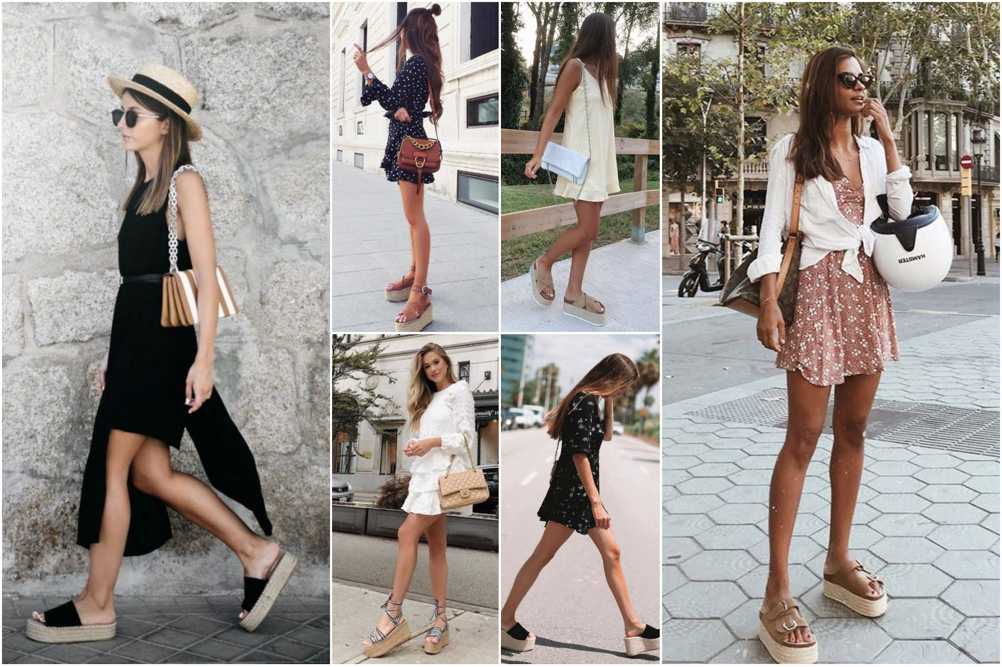 Vestido – Outfit veraniego con sandalias de plataforma