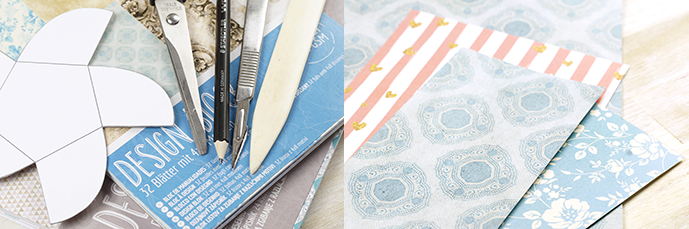 Ynas Designblog | Faltschachtel DIY - Material
