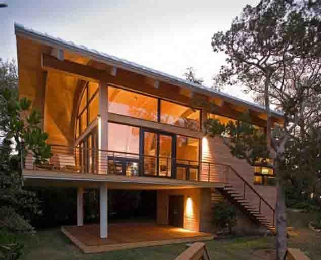 Desain Rumah Kayu Sederhana Minimalis 2 Lantai Metro Properti Balikpapan