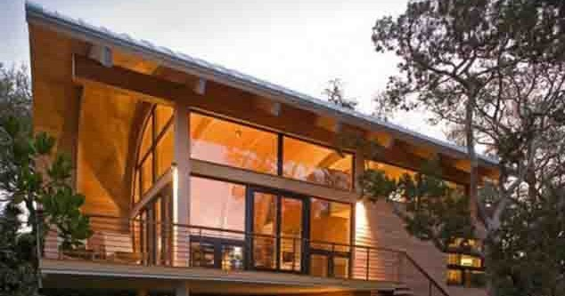 desain rumah kayu sederhana minimalis 2 lantai metro