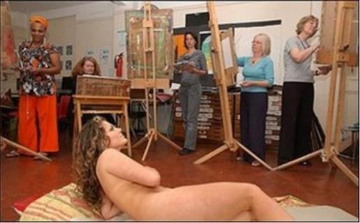 Γυμνά μοντέλα για την τέχνη