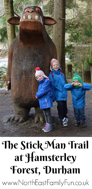 The Stick Man and Gruffalo Trail at Hamsterley Forest in Durham