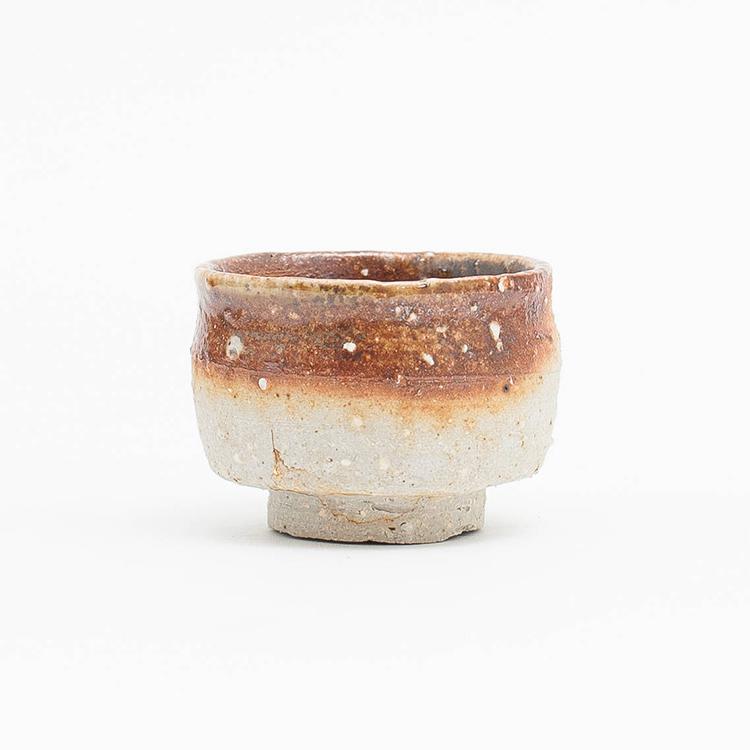 Erik Haugsby Pottery   Woodfired ceramic guinomi, shot glass, handmade pottery, for sake, alcohol, or liquor