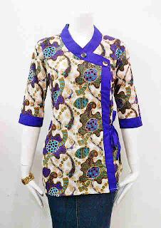 Model Baju Batik Wanita Kantor Modern