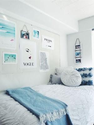 desain Kamar Warna Biru Soft Yang minimalis dan Estetik