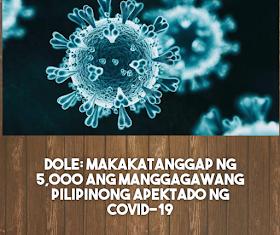 Breaking News: Makakatanggap ng Php5,000 ang mga manggagawa apektado ng COVID19