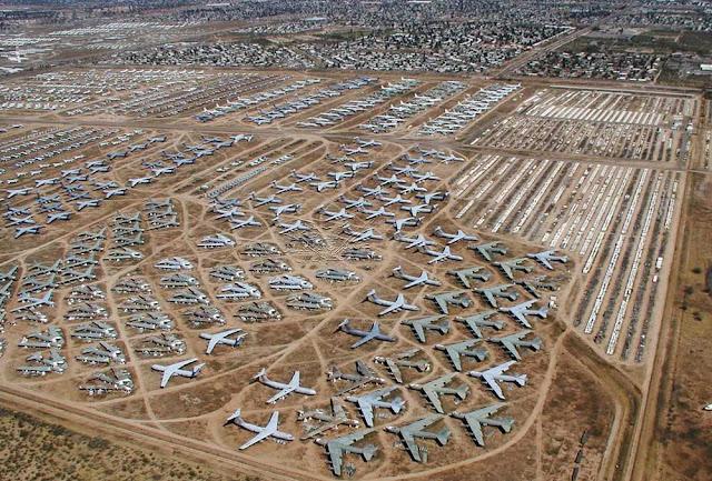 Maior cemitério de aviões do mundo