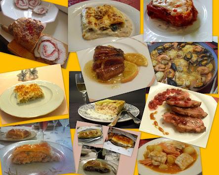 12 platos para Navidad.