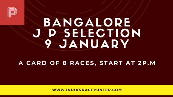 Bangalore Jackpot Selections 9 January