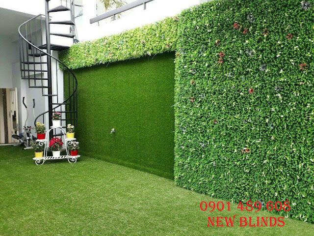 ốp cỏ nhân tạo lên tường