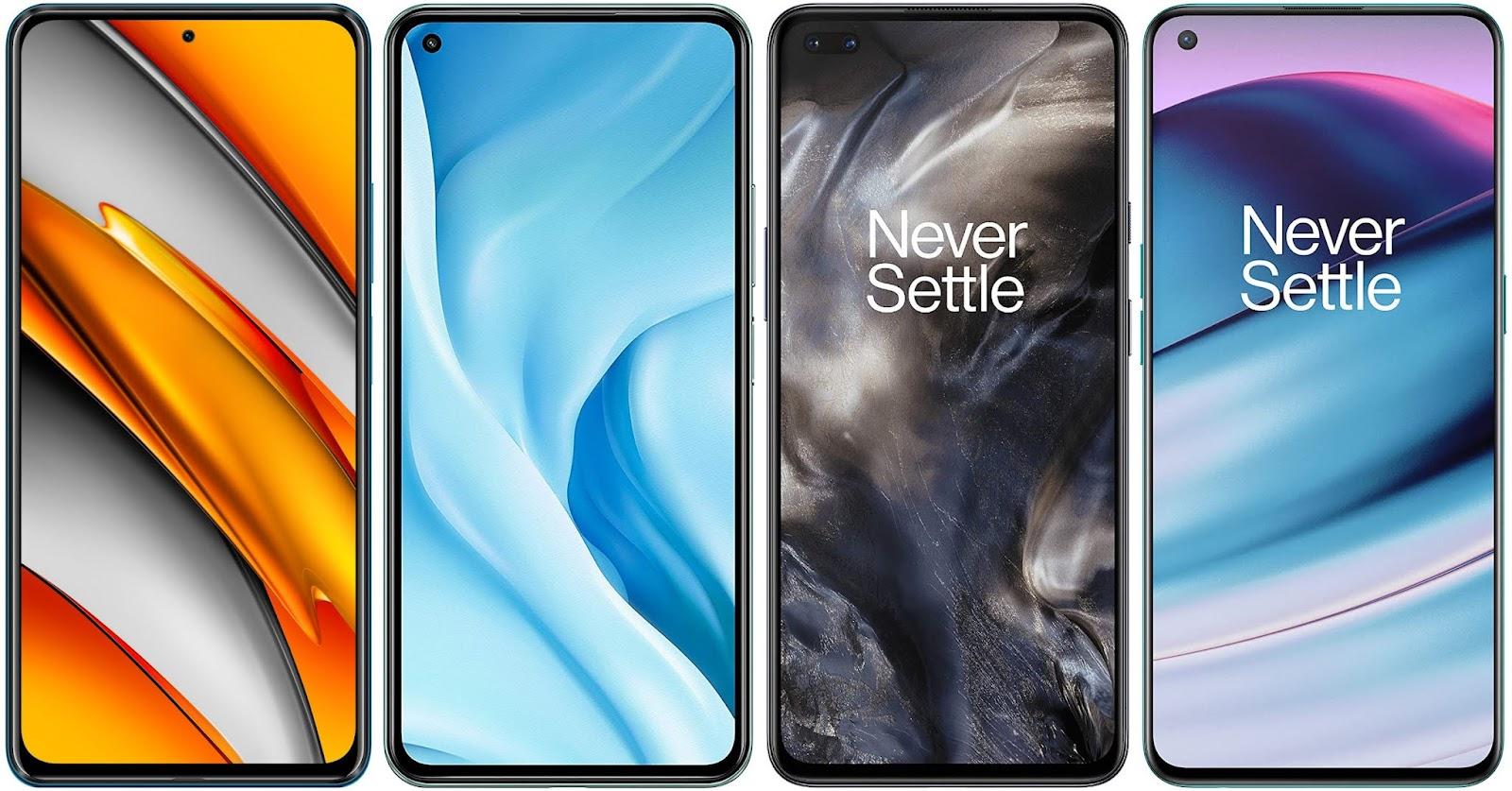 Xiaomi POCO F3 vs Xiaomi Mi 11 Lite 5G vs OnePlus Nord vs OnePlus Nord CE