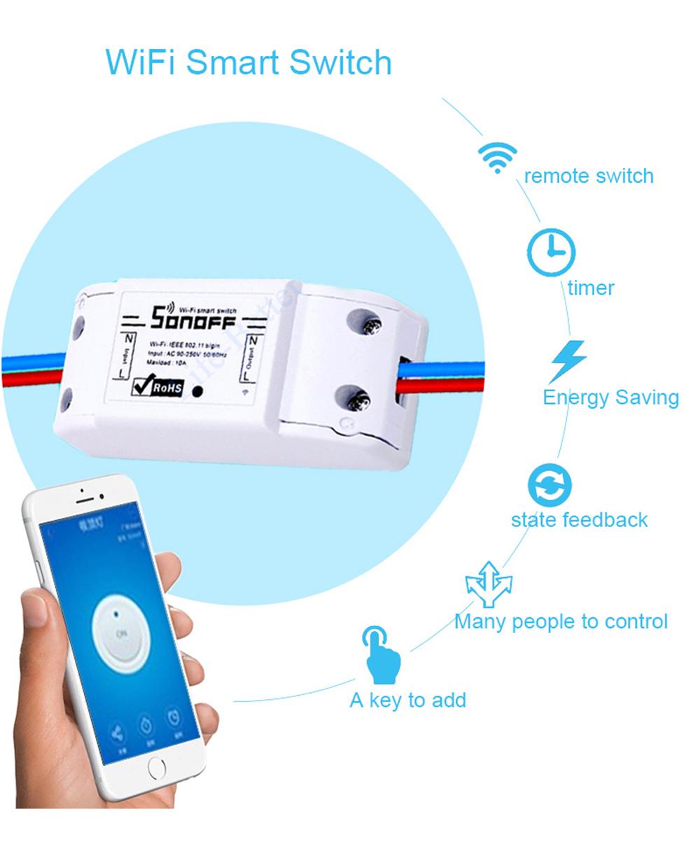 Vigica Sonoff Wifi Switch Intelligent App Control Diy Smart Home Alexa