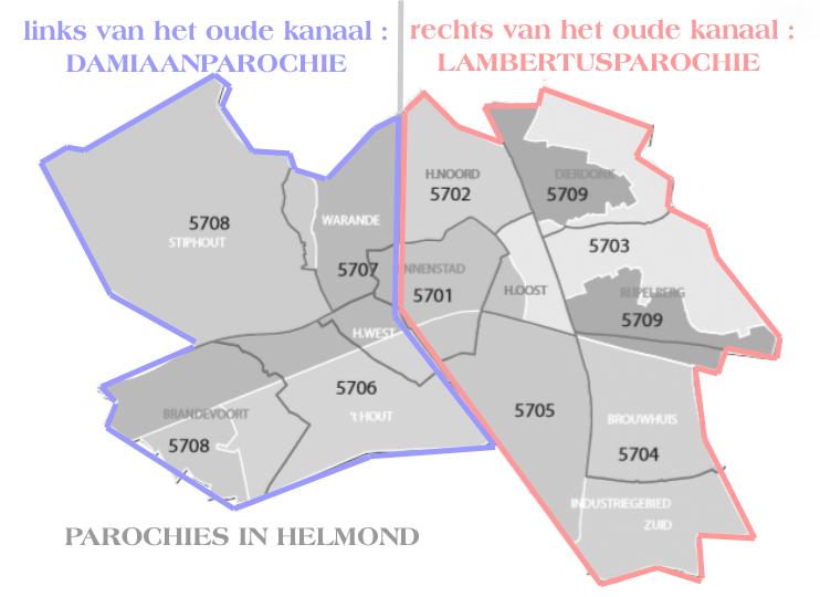 Parochie-indeling Helmond