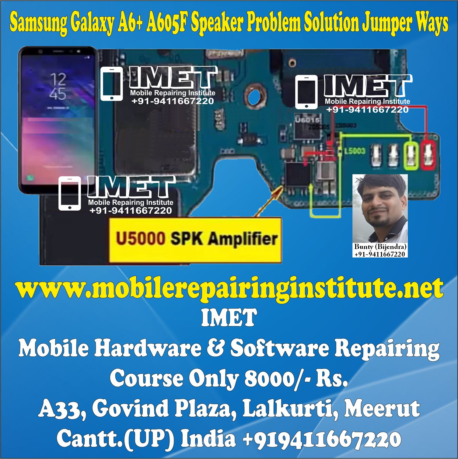 Samsung Galaxy A6+ A605F Speaker Problem Solution Jumper Ways
