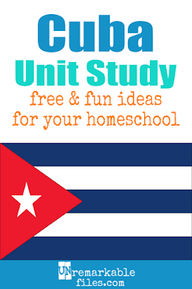 Cuba crafts, book lists, and recipes for kids of all ages! Make learning about Cuba in your homeschool even more fun with these free ideas and resources. #Cuba #homeschool