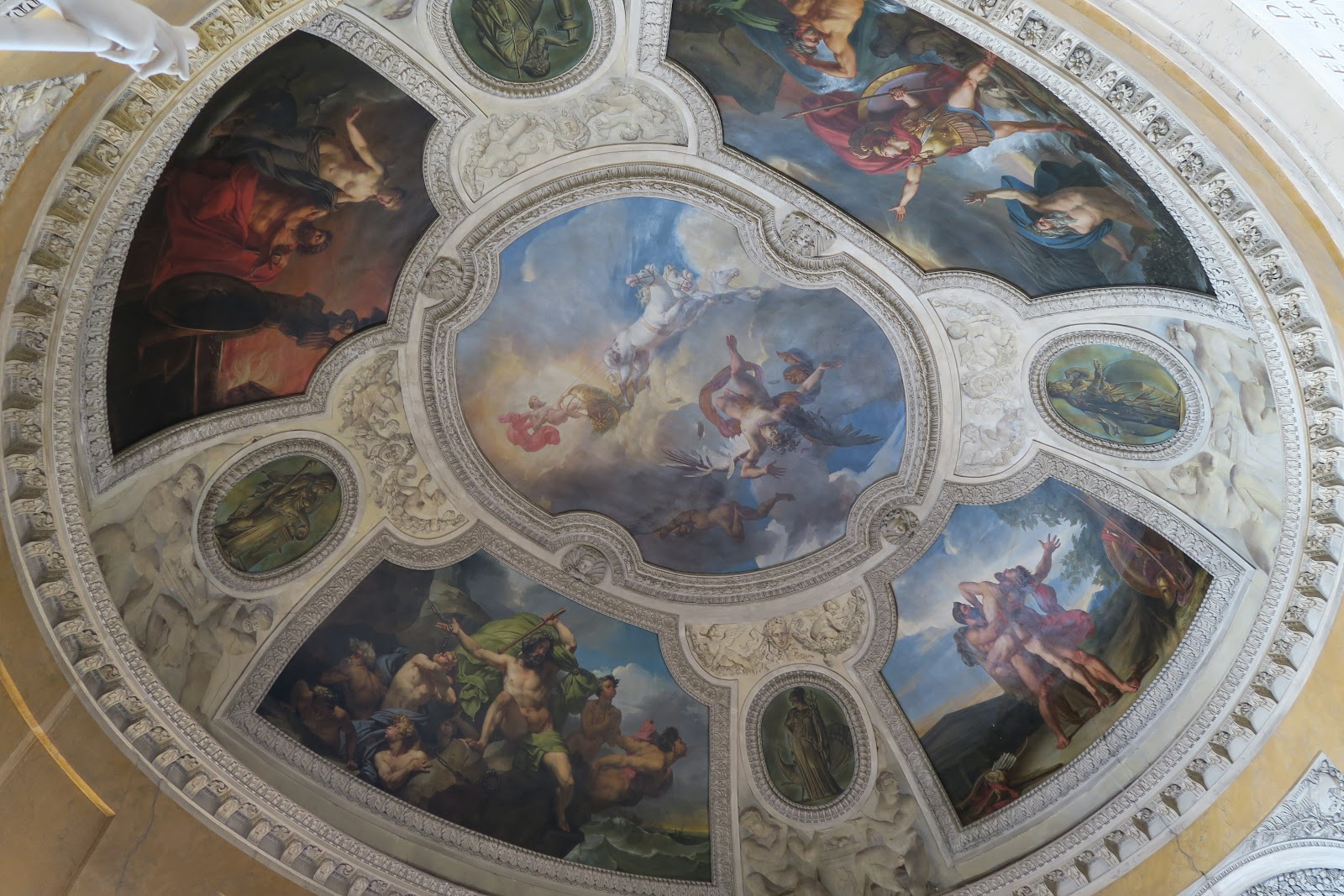 Ornate ceiling in the Louvre