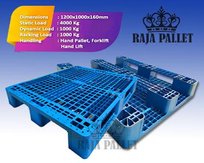 Pallet Plastik bekas Ukuran 1200x1100x160 mm