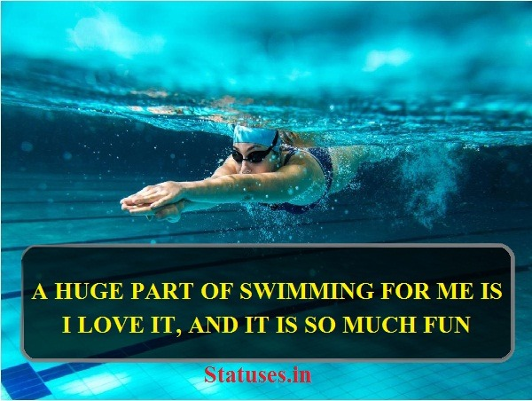 Best  English Quotes on Swimming for Whatsapp