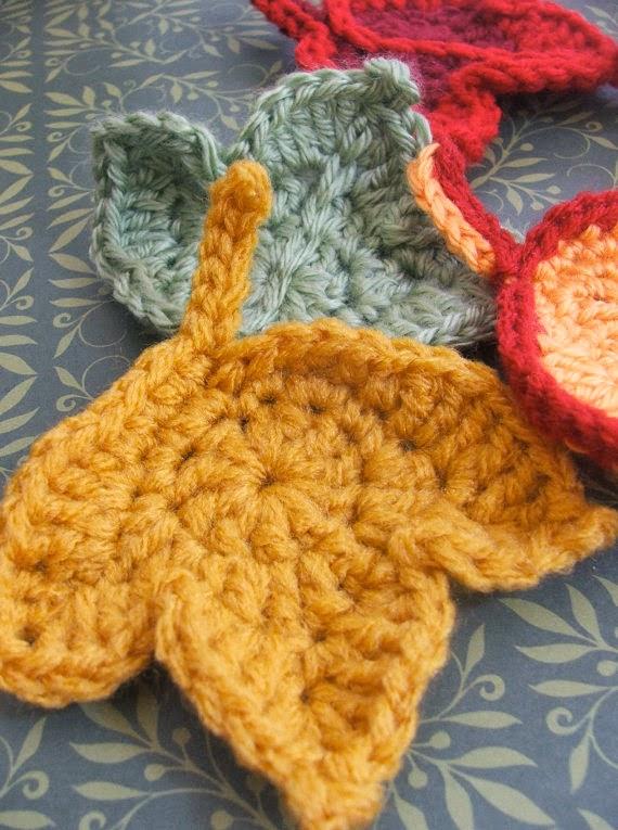 Herfstblaadjes Haken Crochet Fall Leaves Bees And Appletrees