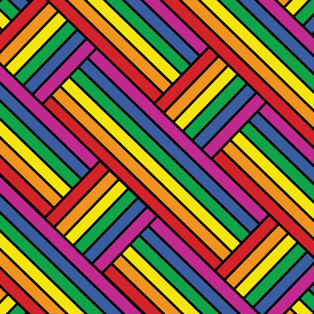 Gay Pride - Rainbow With Outline Weave of Pride