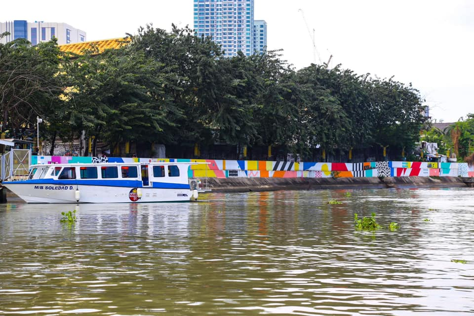 Pasig River Ferry Service and see the wide array of views and colors the metro