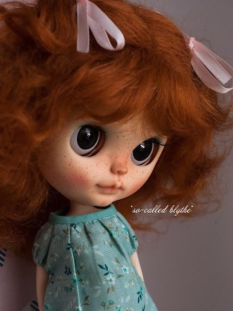 Fiona OOAK custom doll black eyes