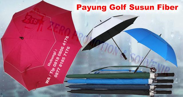 Payung Golf Susun Premium, Souvenir Payung Susun Jumbo, Payung Double Canopy , Payung golf rangkap dua, Payung Golf Susun Full Fiber Otomatis