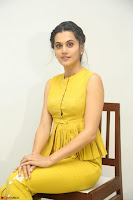 Taapsee Pannu looks mesmerizing in Yellow for her Telugu Movie Anando hma motion poster launch ~  Exclusive 028.JPG