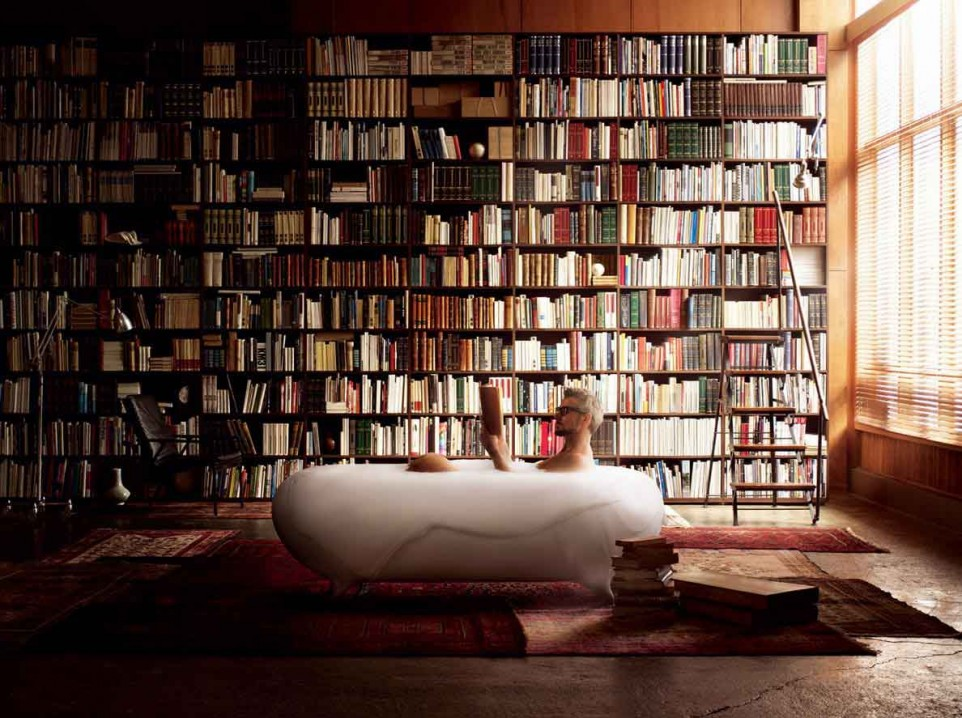 Stunning Home Library With Spiral Staircase Pictures Moder Home - Creating home library