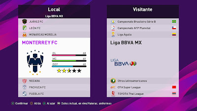 PES 2020 PS4 Option File Liga MX by Abel Petriz