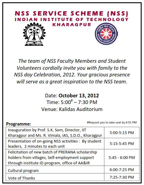 Nss Day Invitation
