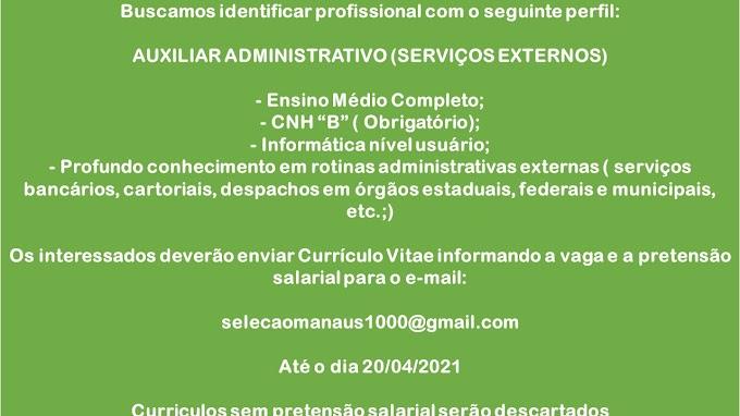 AUXILIAR ADMINISTRATIVO (SERVIÇOS EXTERNOS)