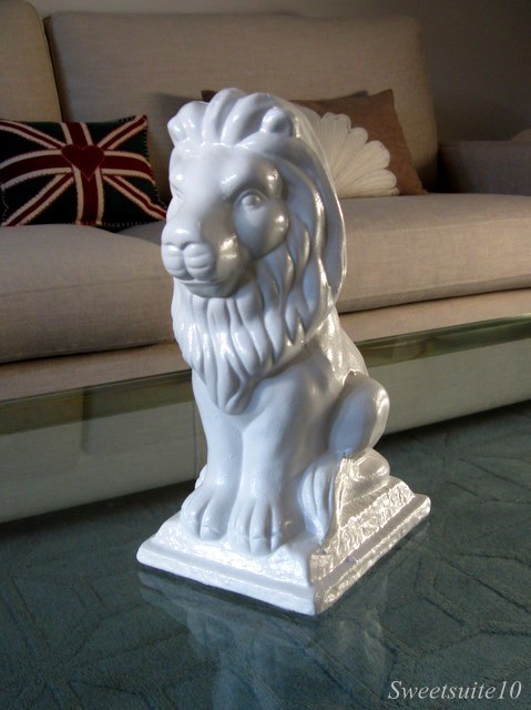 The finished lion Bookend