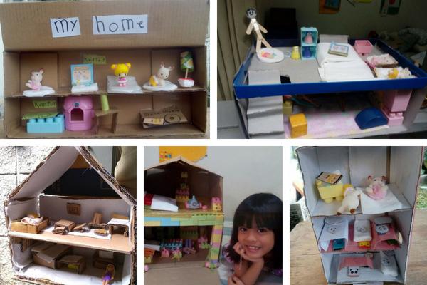 Rumah Boneka Kardus buatan Sasya
