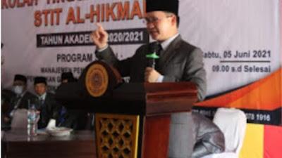 Sekretaris Daerah Kabupaten Way Kanan Hadir Pengukuhan STIT Al - Hikmah