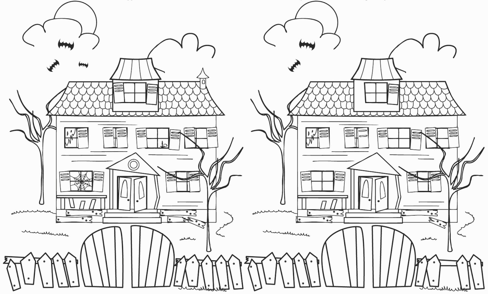 Workbooks hidden pictures worksheets : Baby potatoes: A Haunted House