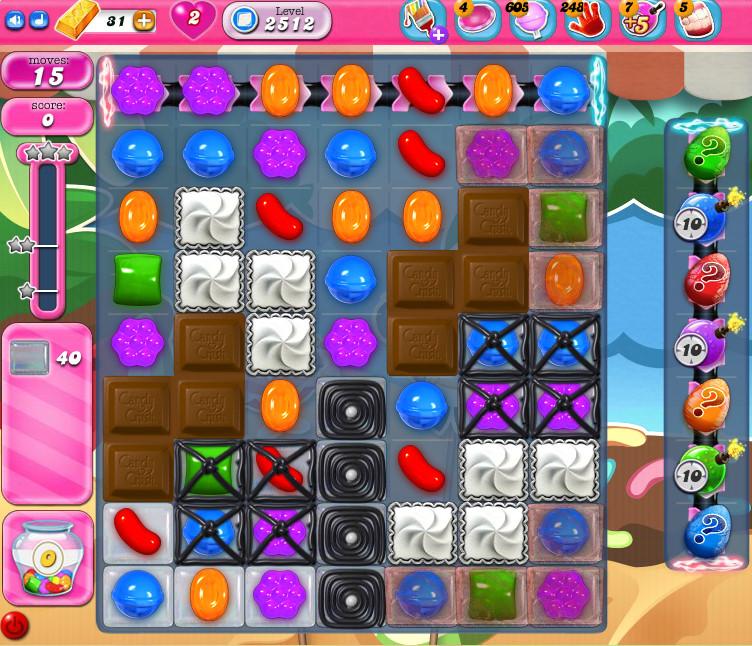 Candy Crush Saga level 2512