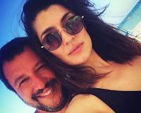 """Matteo Salvini e Elisa Isoardi: """"Baci dalla Romagna"""""""