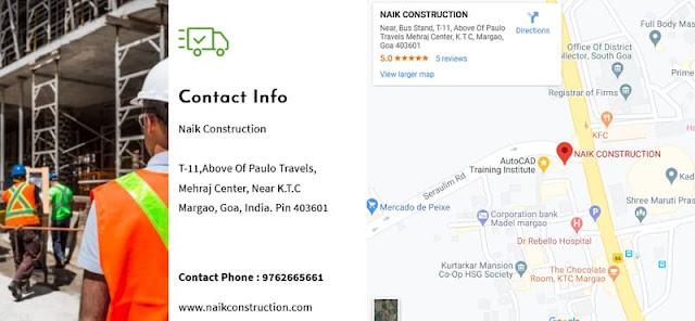 Naik Construction Company Goa Address