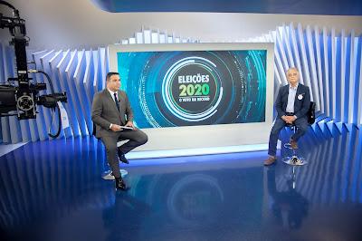 Reinaldo Gottino entrevista Márcio França – Crédito: Edu Moraes / Record TV